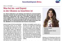Import und Export in der Ukraine -- Zoll Ukraine -- Handelsrecht -- DLF Rechtsanwaelte