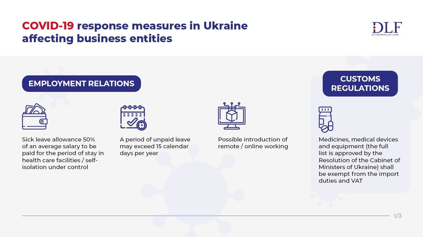 COVID-19 response measures in Ukraine - DLF lawyers in Ukraine - Employment relations