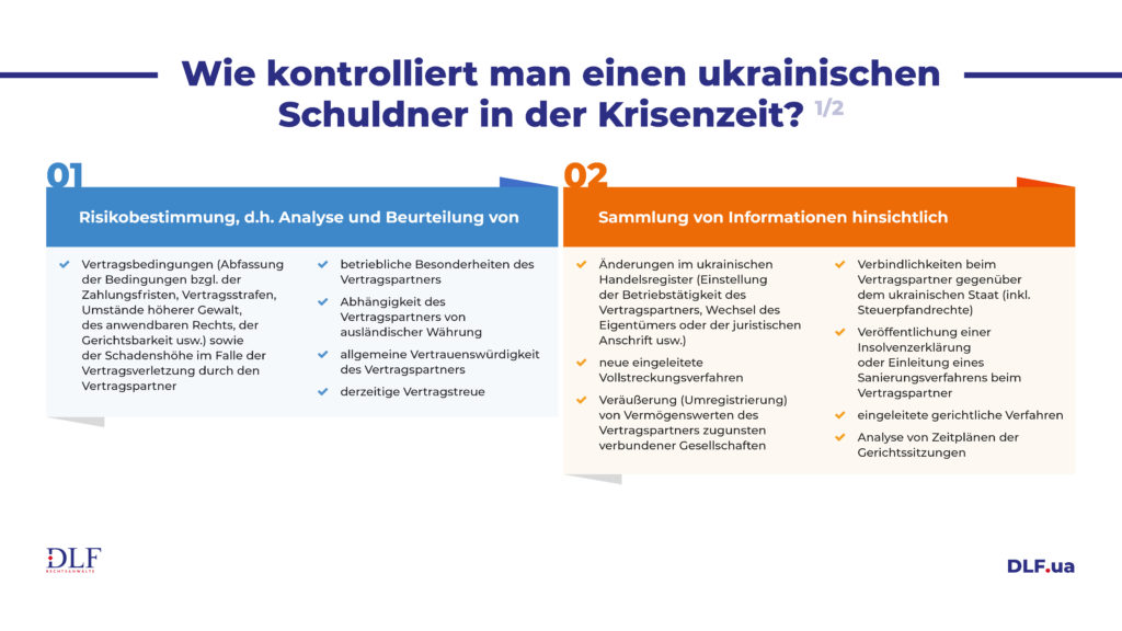DLF Rechtsanwaelte Ukraine - Wie kontrolliert man den ukrainischen Schuldner in der Krisenzeit
