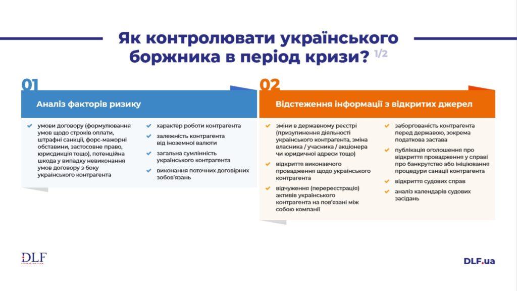 Як контролювати українського боржника в період кризи - DLF attorneys-at-law